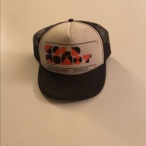 Gold Coast black Trucker style snap back hat
